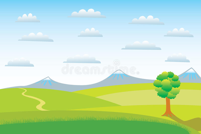 Download A clear day. stock vector. Image of clear, outdoor, hill - 11537625