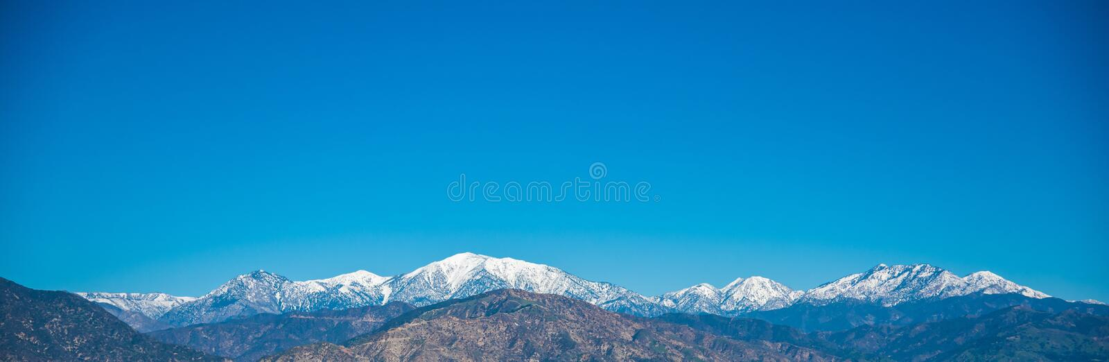 Clear day in Southern California. royalty free stock photography
