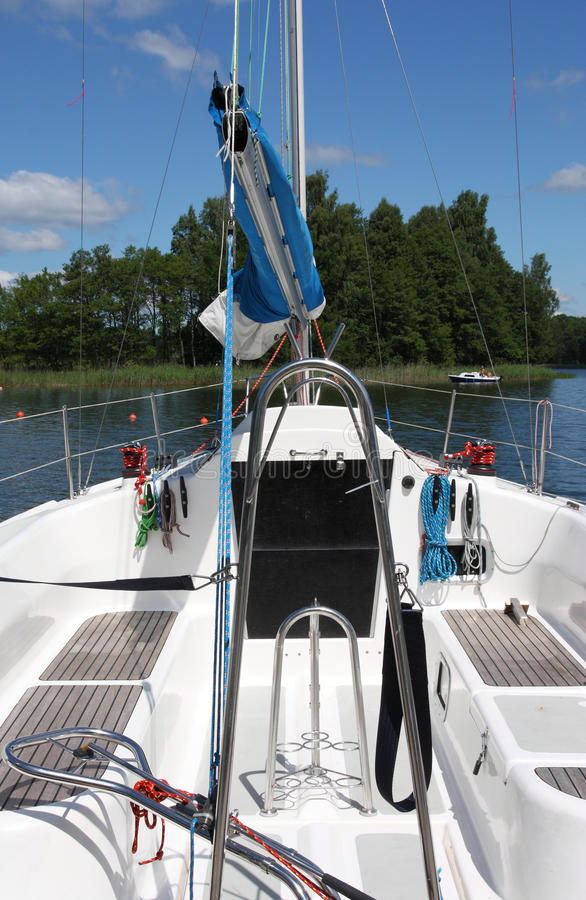 Clear Deck On Sailing Boat Royalty Free Stock Photo