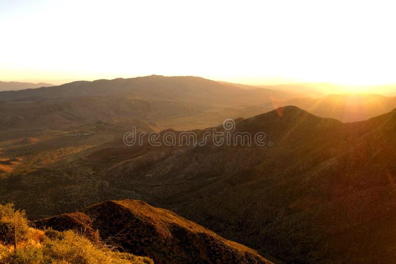 Clear Desert Sunrise stock photos