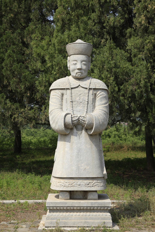 Clear dongling, stone statues. Qing dongling, statues, carved very beautifully stock photo