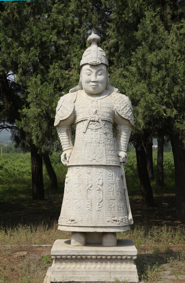 Clear dongling, stone statues. Qing dongling, statues, carved very beautifully royalty free stock image