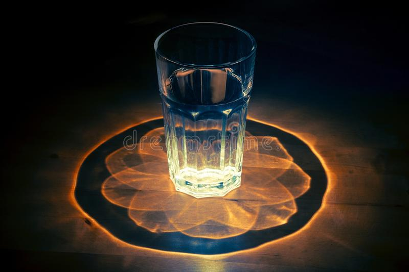 Clear Drinking Glass stock photo