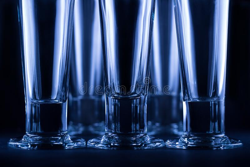 Clear Drinking Glass stock image