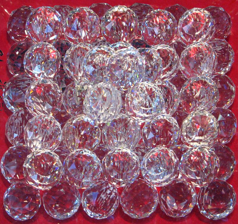 Clear Faceted Glass Spheres Free Public Domain Cc0 Image