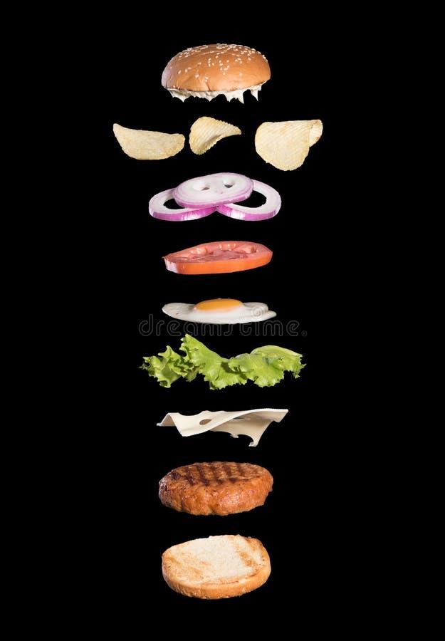 Clear Fly burger. On black background 1 2 3 fdfdf vector illustration