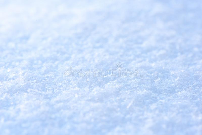 Clear fresh snow close-up. Macro winter picture royalty free stock photo