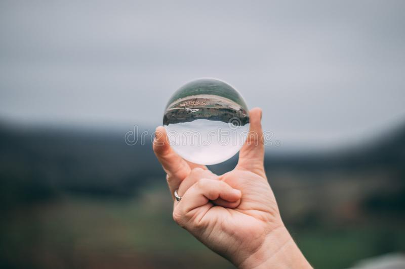 Clear Glass Ball royalty free stock photos