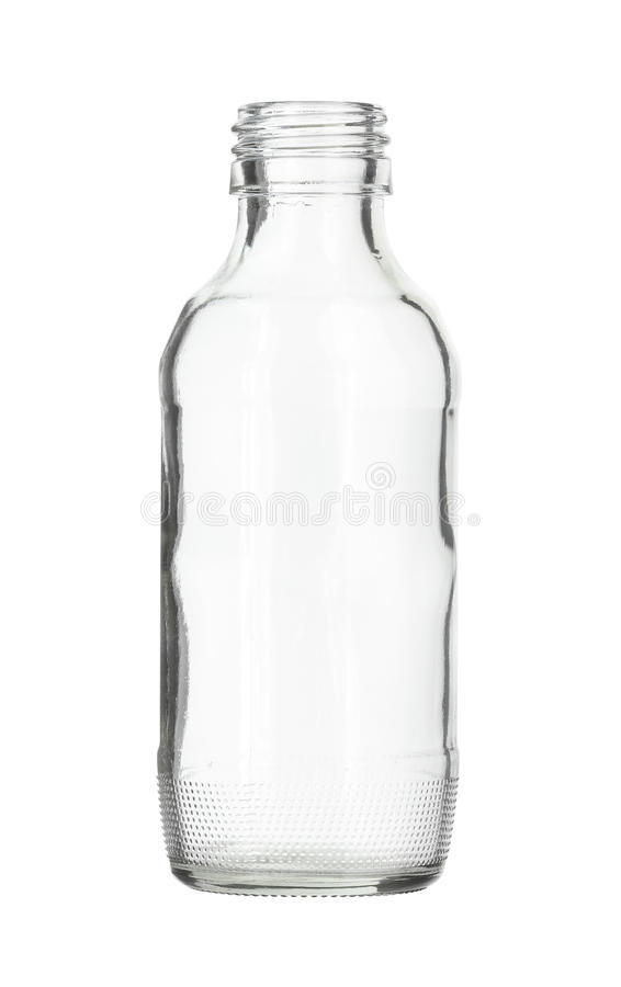 642c036f7943 Empty Clear Glass Bottle In White Background Stock Image - Image of ...