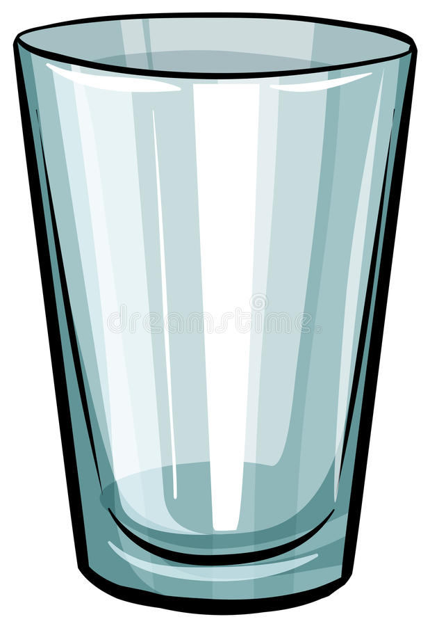 Clear glass stock illustration