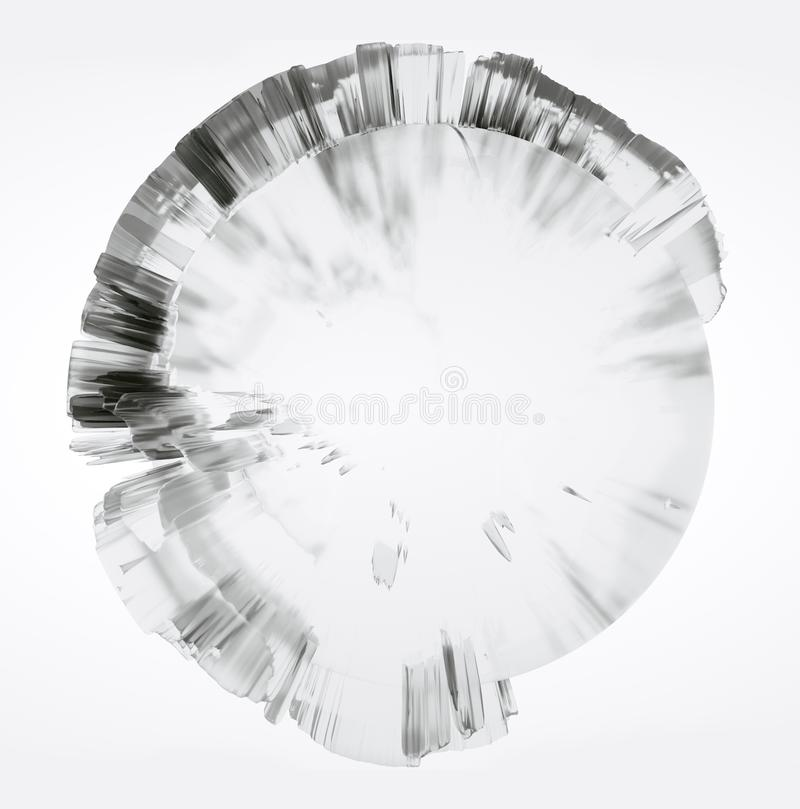 Clear glass Earth on white background vector illustration