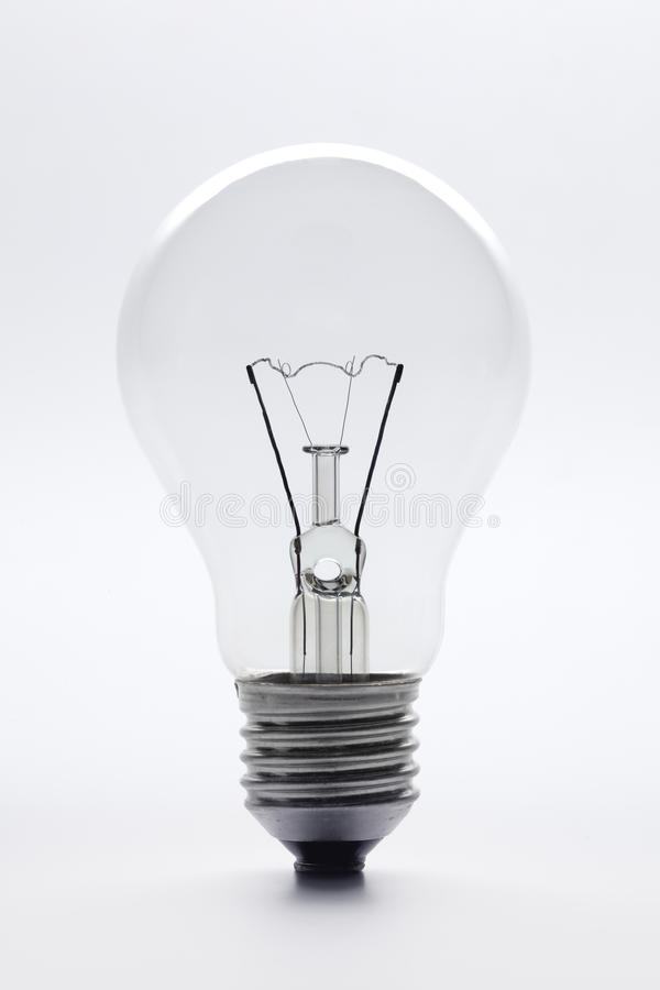 Free Clear Glass Lightbulb Full Lenght Royalty Free Stock Photography - 12615897