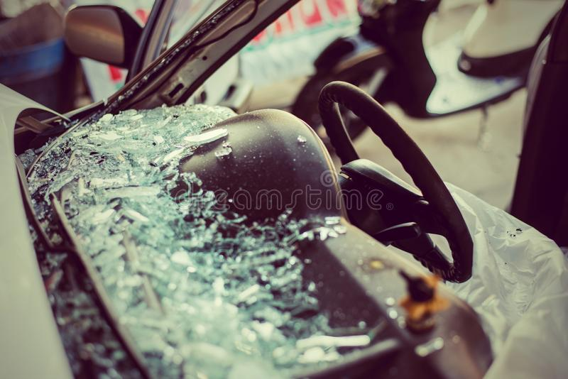 It is clear glass repair or auto accident. stock images