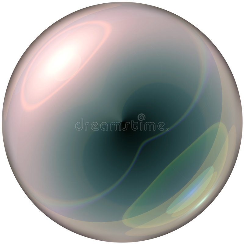Clear glass sphere royalty free illustration