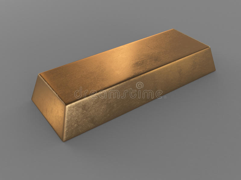 Clear Gold Bar Royalty Free Stock Photo