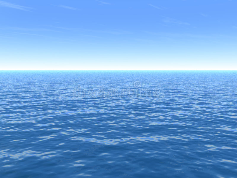 Clear Hot Summer Day Over Sea royalty free illustration