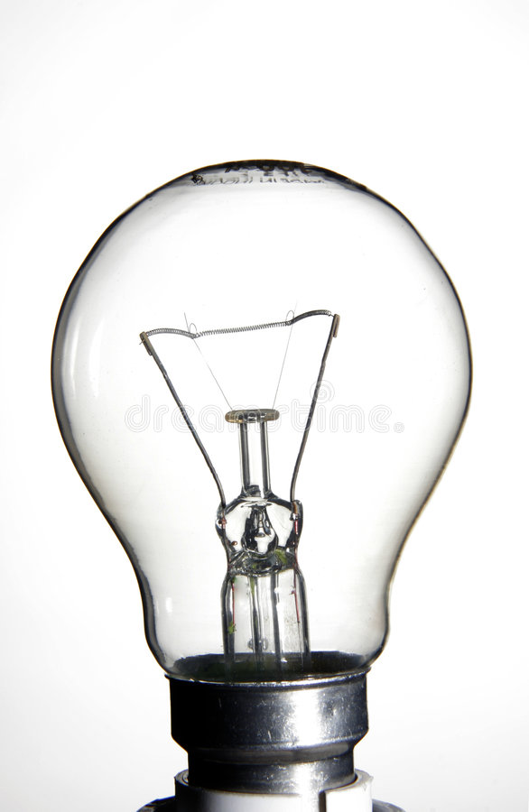 Clear lightbulb stock images
