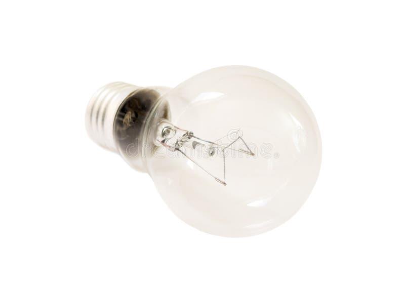 Clear lightbulb on white backround royalty free stock photo