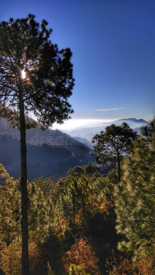 Clear mornings from barog stock photography