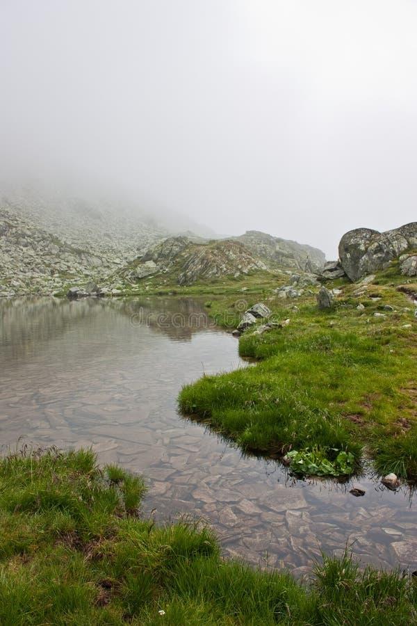 Clear mountain lake royalty free stock photos