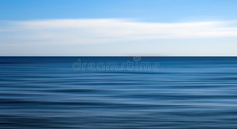 Clear open sea, motion blur. Effect stock photo