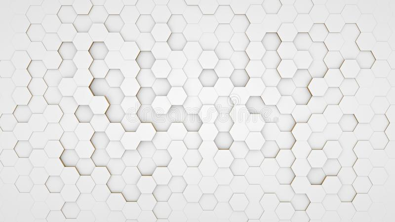 Clear pattern abstract background hexagon white royalty free illustration