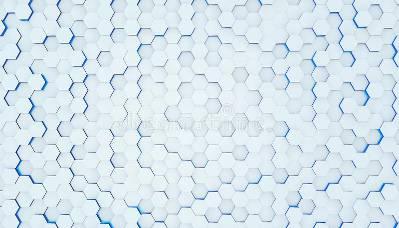 Clear pattern abstract background hexagon white, wallpaper futuristic royalty free stock photo