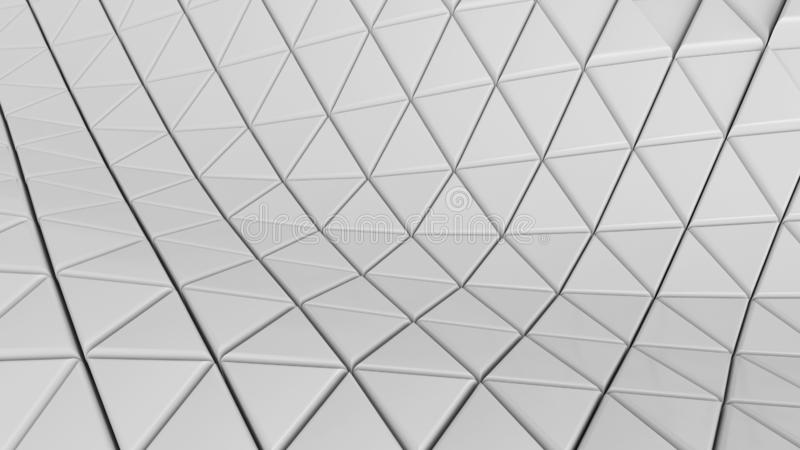 Clear pattern abstract floor background triangle white, wallpaper futuristic - Illustration royalty free illustration
