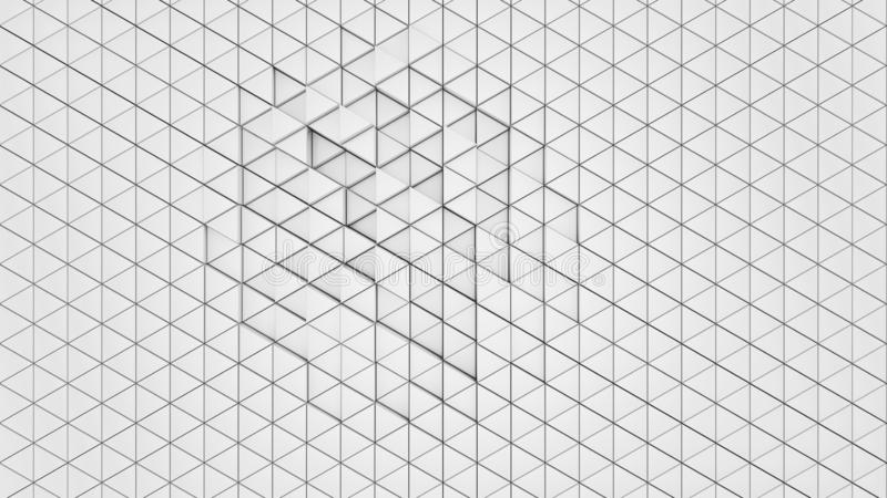 Clear pattern abstract wall background triangle white, wallpaper futuristic - Illustration vector illustration