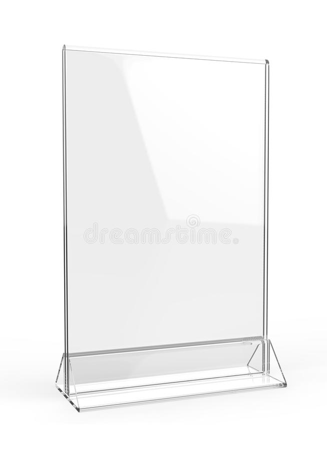 Free Clear Plastic And Acrylic Table Talkers Promotional Upright Menu Table Tent Top Sign Holder 11x8 Table Menu Card Display Stand Pi Stock Photo - 121803600
