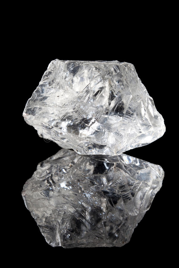 Clear Quartz Or Rock Crystal Royalty Free Stock Images