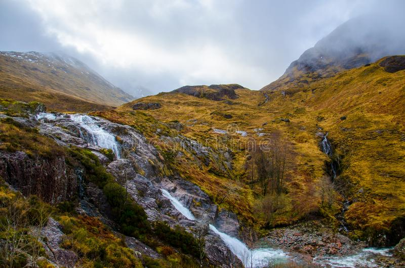 Clear Rivers Flowing from Mountains stock photography