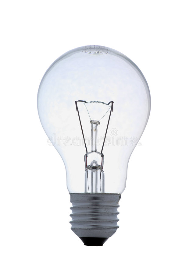 Clear lightbulb on white royalty free stock images