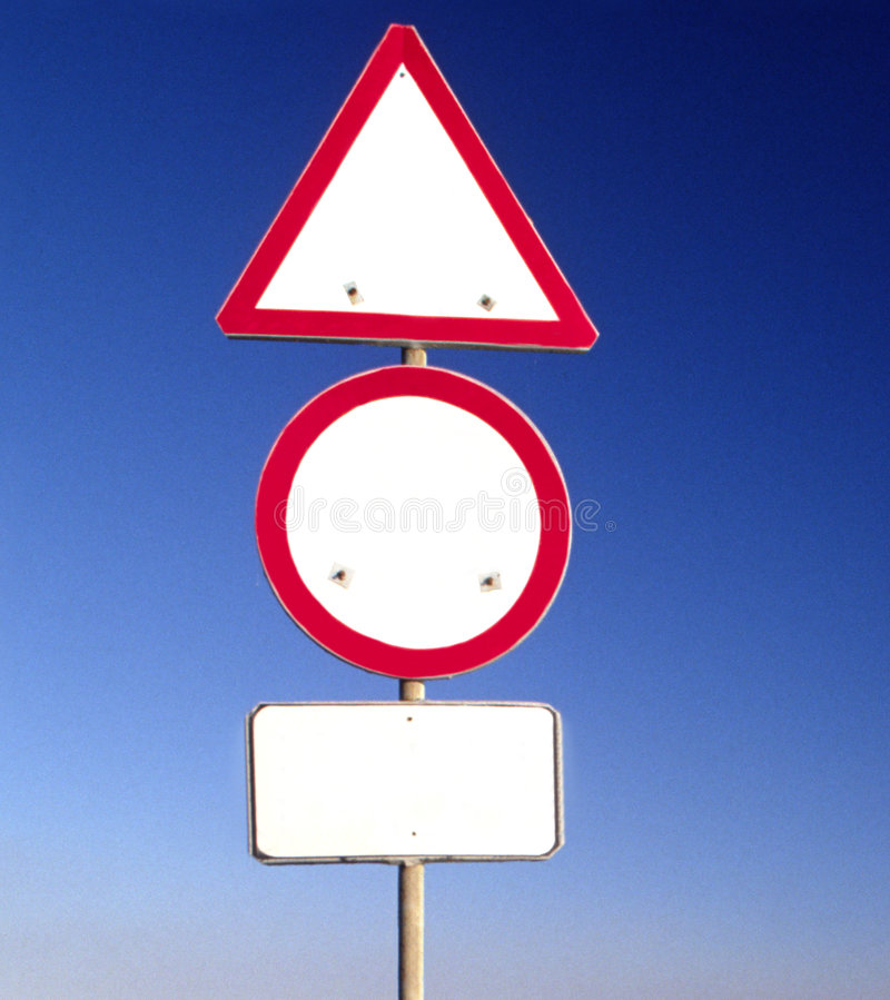 Clear sign stock photography