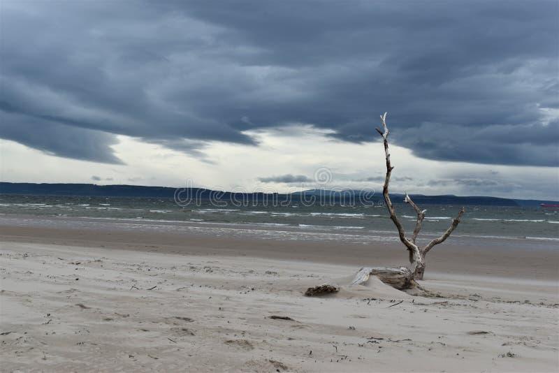 Nairn, Scottish highlands, East beach at sunset royalty free stock image