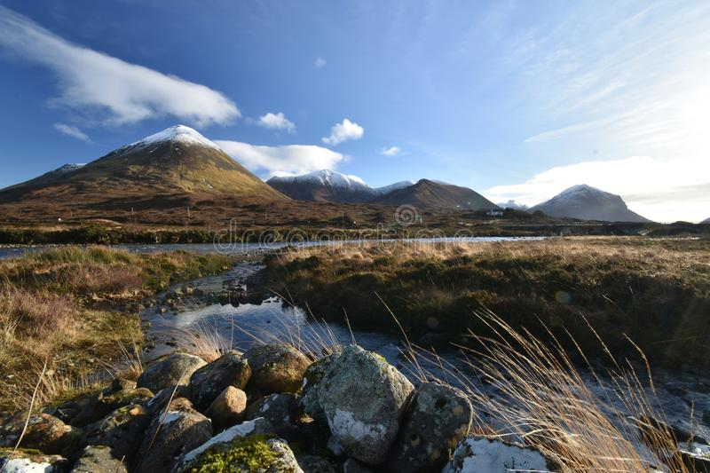 Isle of Skye in january stock images