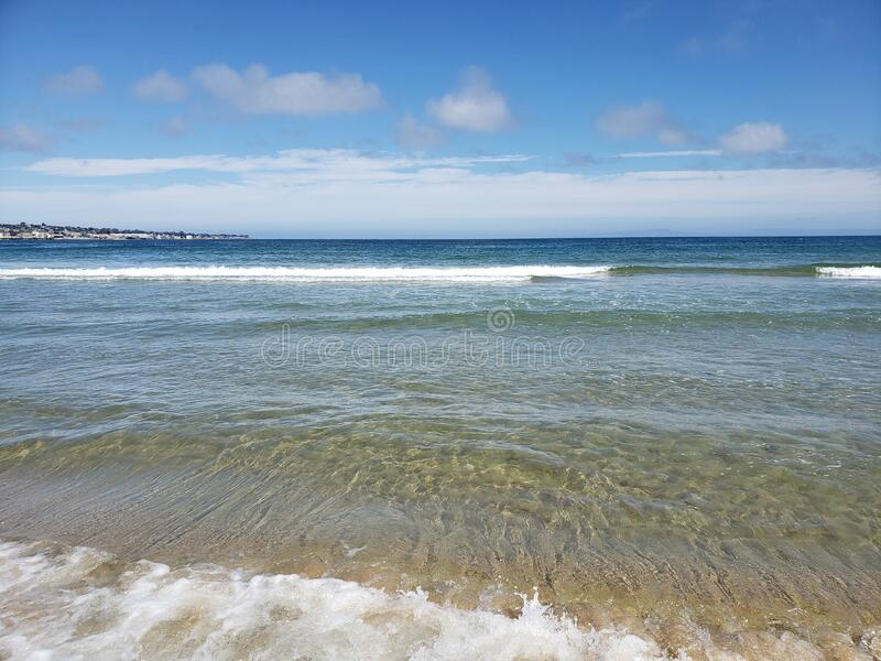 Clear skies and ocean breeze royalty free stock photography