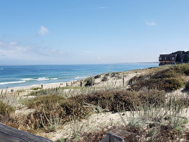 Clear skies and ocean breeze royalty free stock photos