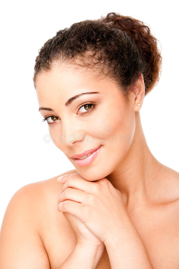 Clear skin beauty royalty free stock image