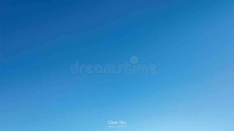 Clear sky background. Abstract blue sky for outdoor background. royalty free illustration