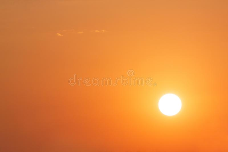 Sky background with rising sun. Clear sky background with rising sun royalty free stock photography