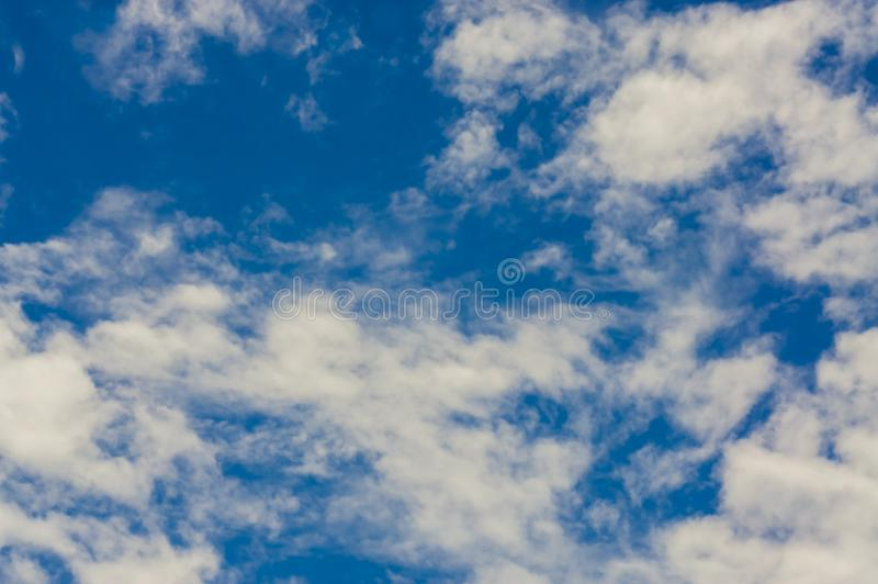 Clear sky on a fine day. With light sun With pattern of clouds form a beautiful nature. Feel relaxed and independent. With space for text input and use stock photography