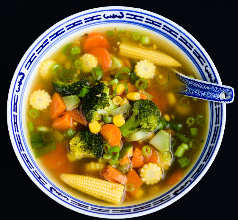Clear soup-broth stock images
