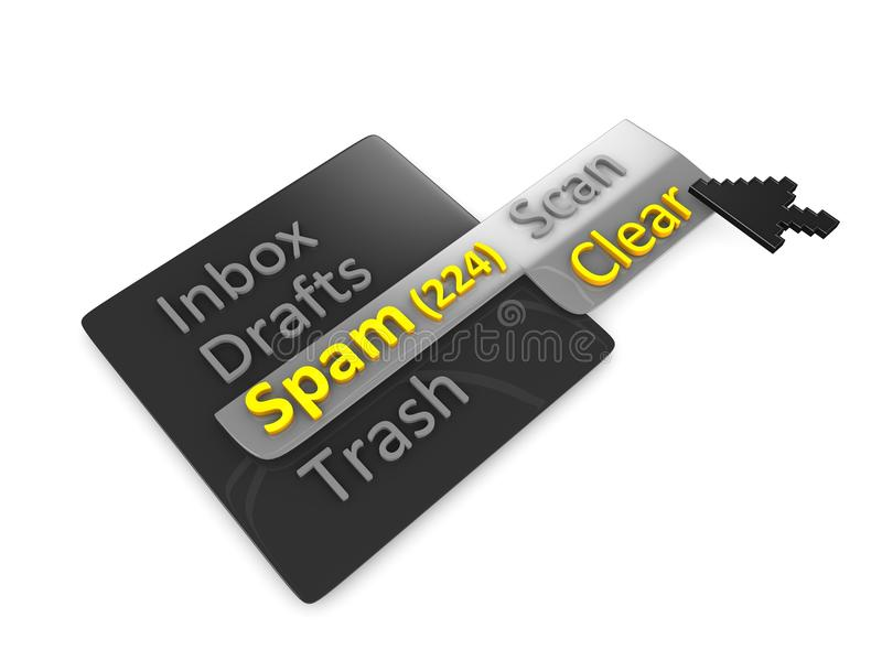Clear Spam Mail Royalty Free Stock Photography