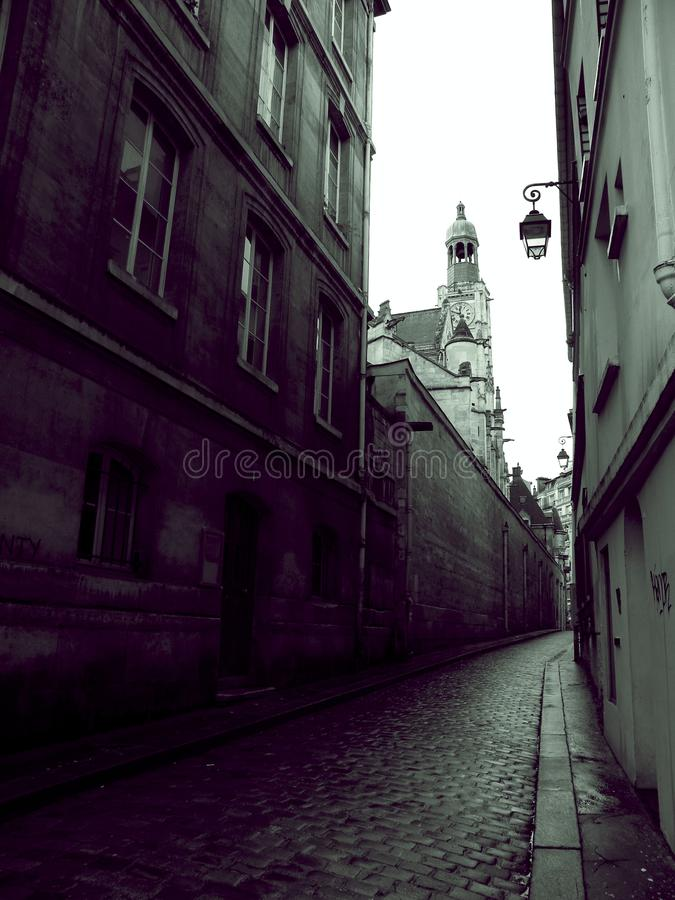 Clear Street Near White Concrete Buildings royalty free stock image