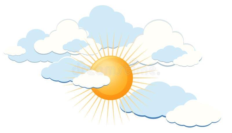 Clear sunny blue sky. Illustration royalty free illustration