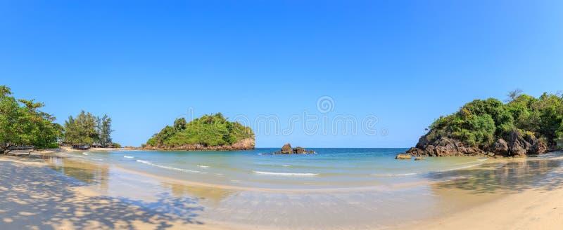 Clear turquoise blue sea at Bo Thong Lang Bay, Bang Saphan district, Prachuap Khiri Khan, Thailand.  stock photography
