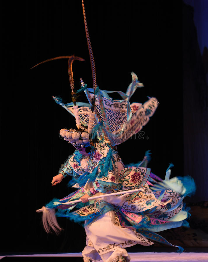 """Clear and vague-Mu Guiying- Beijing Opera"""" Women Generals of Yang Family"""". This opera tells a patriotic story how does an old woman of a hundred stock photos"""