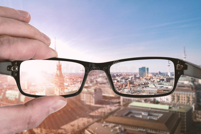Clear vision stock image