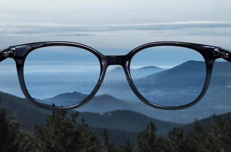 Clear vision over blue mountain landscape royalty free stock photography